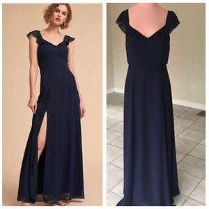 Anthropologie BHLDN Diana Dress - Navy Blue